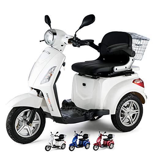 VELECO ZT15 Scooter elettrico 3 ruote Disabili Anziani 25km/h 900W (BIANCO)