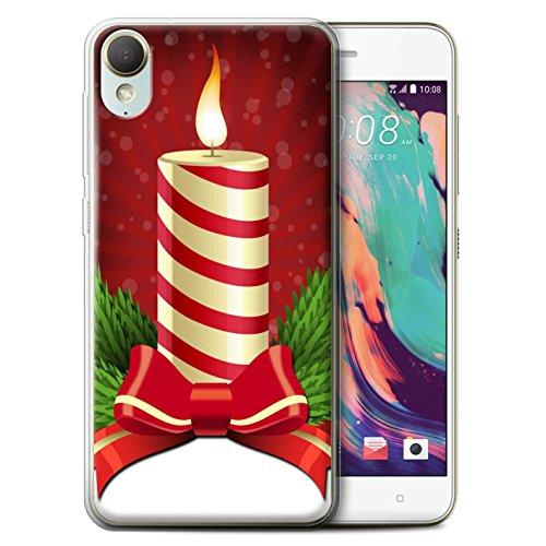 Stuff4® Gel TPU hoes/case voor HTC Desire 10 lifestyle/kaars patroon/kerstdecoratie collectie