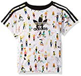 adidas Originals Kids' Little Tee, Multi/black, Small