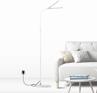 مصباح ليد مرن أبيض عاكس للضوء ضوء للقراءة 2X 5W رؤوس مصباح LED مزدوج بحد أقصى 1000Lm إضاءة نهارية 500K ارتفاع 1.5 متر مصبا...