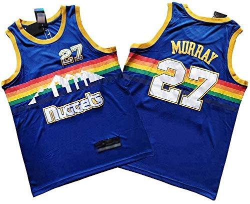 WSUN Maglia da Basket NBA da Uomo, Maglia Jamal Murray NBA 27# Denver Nuggets Maglia da Basket Sportiva Maglietta Swingman per Il Tempo Libero Traspirante,XL(180~185cm/85~95kg)