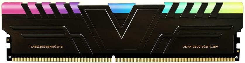 V-Color Prism RGB 8GB (1 x 8GB) DDR4 3600MHz (PC4-28800) CL18 1.35V Desktop Memory -Black (TL48G36S8BNRGB18)