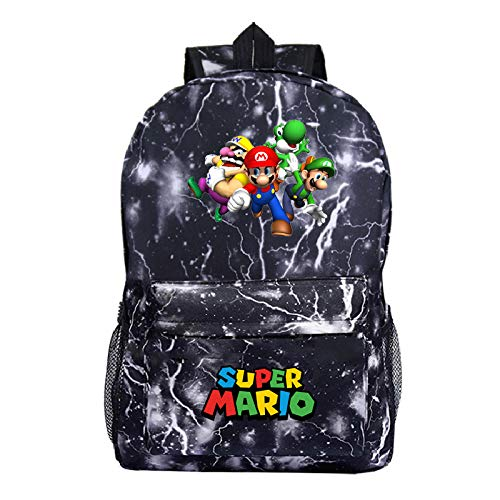 YUNXING Super Mario Backpack Back to school bags for teenage girls Anime trousse mario Backpack Sac Mochila Mujer Laptop Backbag Women Men Travel bag