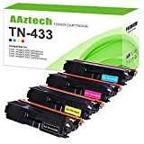A Aztech Compatible Toner Cartridge Replacement for Brother TN433 TN-433 TN433BK TN431 for Brother MFC-L8900CDW HL-L8360CDW HL-L8260CDW MFC-L8610CDW HL-L8360CDWT (Black, Cyan, Yellow, Magenta, 4-Pack)