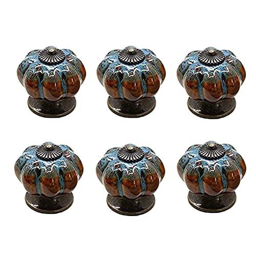 Trazador de cajones perillas Tiradores de tirones 6pcs 4 0MM Estilo vintage encantador perilla de puerta de cerámica cordón lindo mango plomo gabinete de armario baño baño cocina decoración del hogar