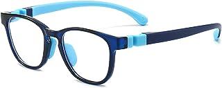 Blue Light Blocking Glasses for Kids Computer Gaming TV Glasses Anti Eyestrain for Boys Girls Age 4-12
