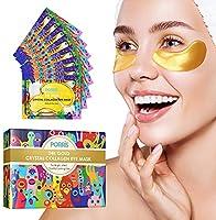 24K Gold Eye Treatment Mask Under Eye Patches,Eye Gel Anti-aging Anti-wrinkle Moisturizing Mask for Puffy Eyes,Dark...