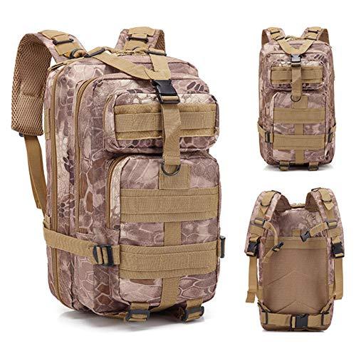 GAOHONGMEI Sac à Dos Tactique 3P Sacs à Dos Multifonction Camouflage étanche Militaire Grande capacité pour Combat Trekking Camping Escalade Sports de Plein air Sac en Nylon-04#