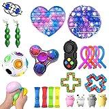 Fidget Toy Set, Fidget Toy pas cher Pack, 23pcs Jouets sensoriels Outils anti-anxiété Bundle Jouets de thérapie sensorielle pour enfants Adultes Jouets à main pour la fête d'anniversaire Favors