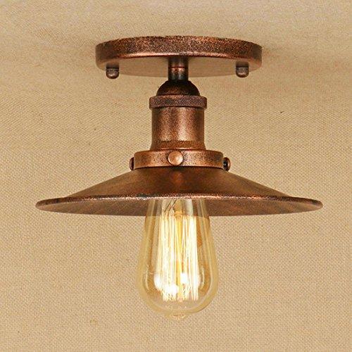 BAYCHEER Plafonniers Abat-jour Style Parapluie E27 Métal Industriel Rétro Eclairage Decoratif Brun