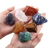 SUNYIK - Set di 7 pietre chakra, pietra grezza naturale grezza per burattare, cavoli, kit di guarigione di cristalli