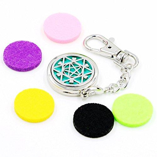 Leezo Aromatherapie Ätherisches Öl Diffusor Schlüsselanhänger Keyfob Schatz Geschenk Schlüsselanhänger Tasche Brieftasche Anhänger Ornament