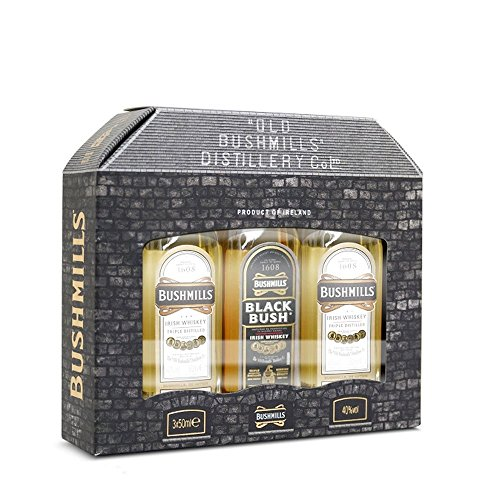Bushmills Triple Pack - Original & Black Bush Irish Whiskey - 3x 5cl Miniature Bottle Gift Box