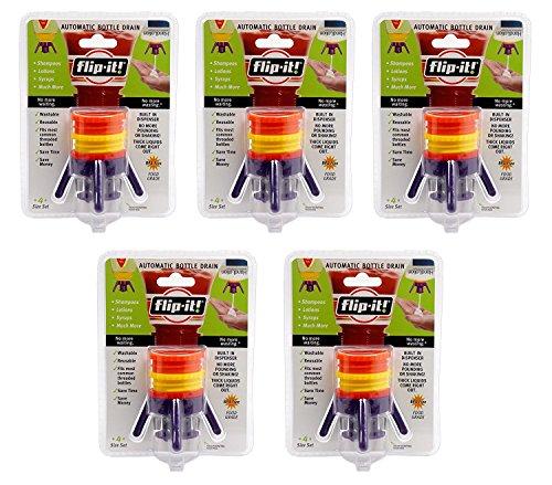 Flip-It FL4X1AP5 Bottle Empyting Kit, Kitchen/All Purpose, 5-Pack