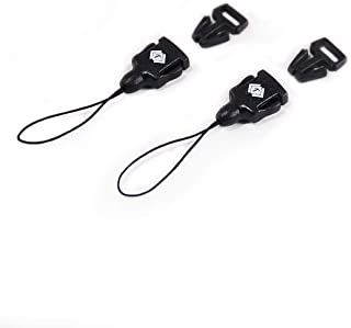 Tether Quick Release Buckle connectors (2 Sets) use for Neck Strap Camera, Camera Quick Release. Camera Strap Clips/Mini QD Loops