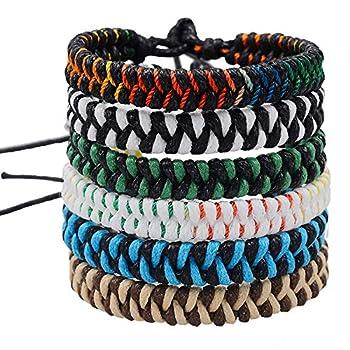 Jeka Handmade Braided Woven Friendship Bracelets Fashion 6 Pcs Bulk Men Women s Cool Wrist Bracelet for Boys Gift