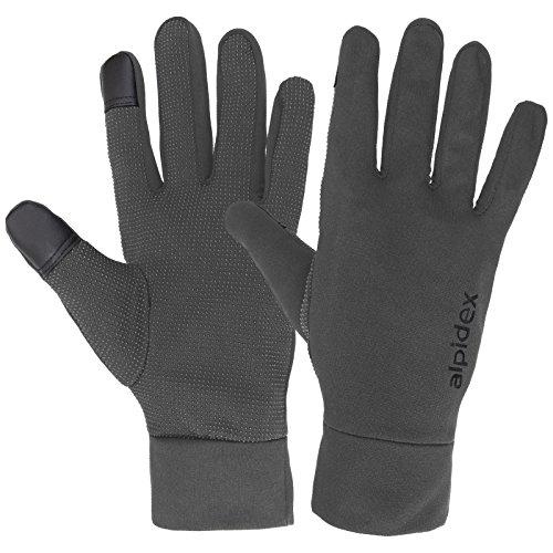 ALPIDEX Leichte Sporthandschuhe Laufhandschuhe WÅRM ÅP Running Handschuhe Unisex Sport Handschuhe Nordic Walking Handschuhe für Damen und Herren mit Touchscreen-Funktion, Größe:M, Farbe:Grey