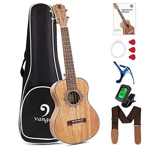 Tenor Ukulele Professional 26 Inch Mahogany Ukulele Starter Kit for Adults Beginners, by Vangoa