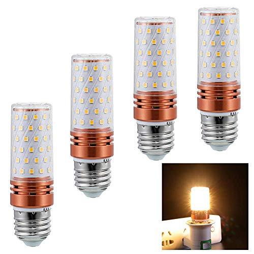 SHKUU 4 Pack LED Corn Light Bulbs, 120W Equivalent, Warm White Candelabra Bulbs, 1200 Lumens, 360°;Beam Angle, Candle Bulbs