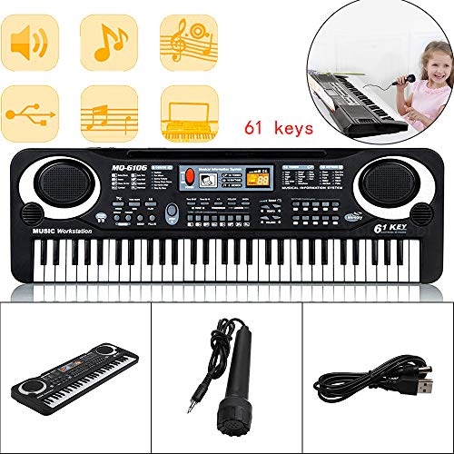 MorNon 61 Key Digital Electronic Keyboard Piano,with Built-In Microphone...