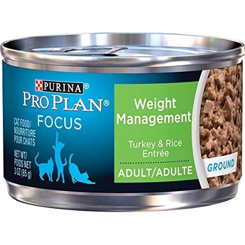 Purina Pro Plan Weight Management, High Protein Adult Dry Cat Food & Wet Cat Food