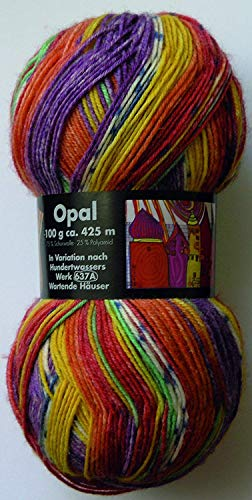OPAL Sockenwolle Hundertwasser I - Wartende Häuser