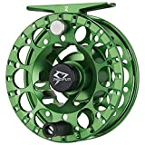 Piscifun Sword ‖ Light Weight Fly Fishing Reel with CNC-machined Aluminum Alloy Body 5/6 Green