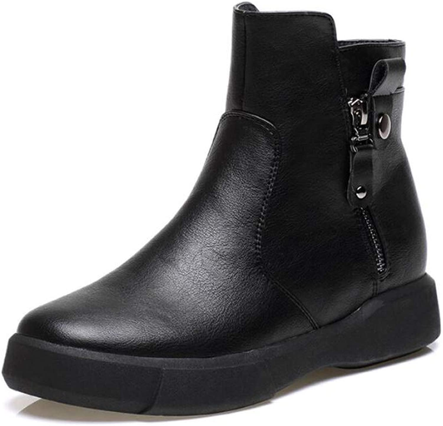 DANDANJIE Woemns Martin Boots British Retro Flat Boots Student Casual Boots Autumn