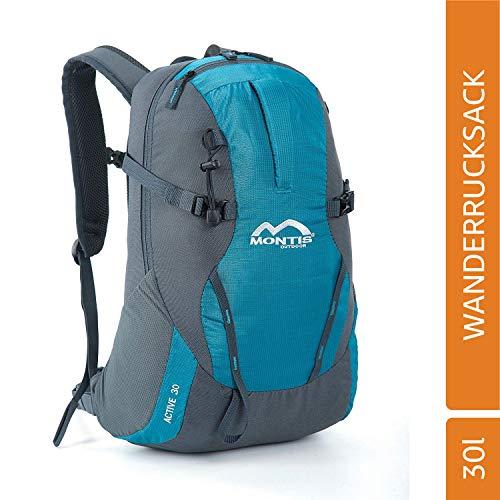 MONTIS ACTIVE 30, zakelijk, student, school, all-purpose en dagpakket, ook ideaal om te wandelen, gewatteerd voor laptop en tablet, uitstekende all-rounder.