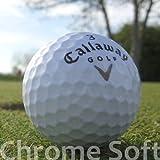 Easy Lakeballs 50 Callaway Chrome Soft Pelotas DE Golf RECUPERADAS/Lake Balls - Calidad AAAA/AAA (Pearl/A Grade) - EN Bolsa DE Red