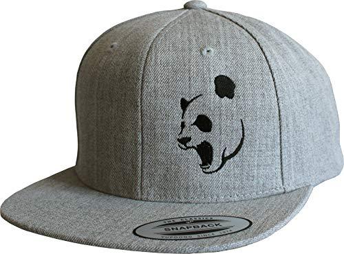 Cap: Panda - Flexfit Snapback - Urban Streetwear - Männer Mann Frau-en - Baseball-cap - Hip-Hop Rap - Mütze - Kappe - Süß - Tiere - China - Basecap - Vintage Retro - Panda-Bär (One Size)