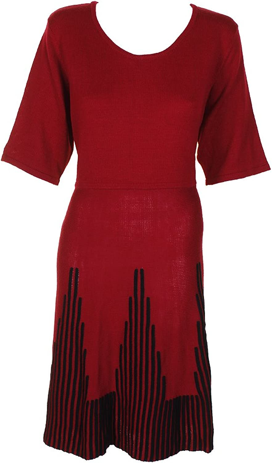 NY Collection Womens Plus Fit & Flare KneeLength Sweaterdress