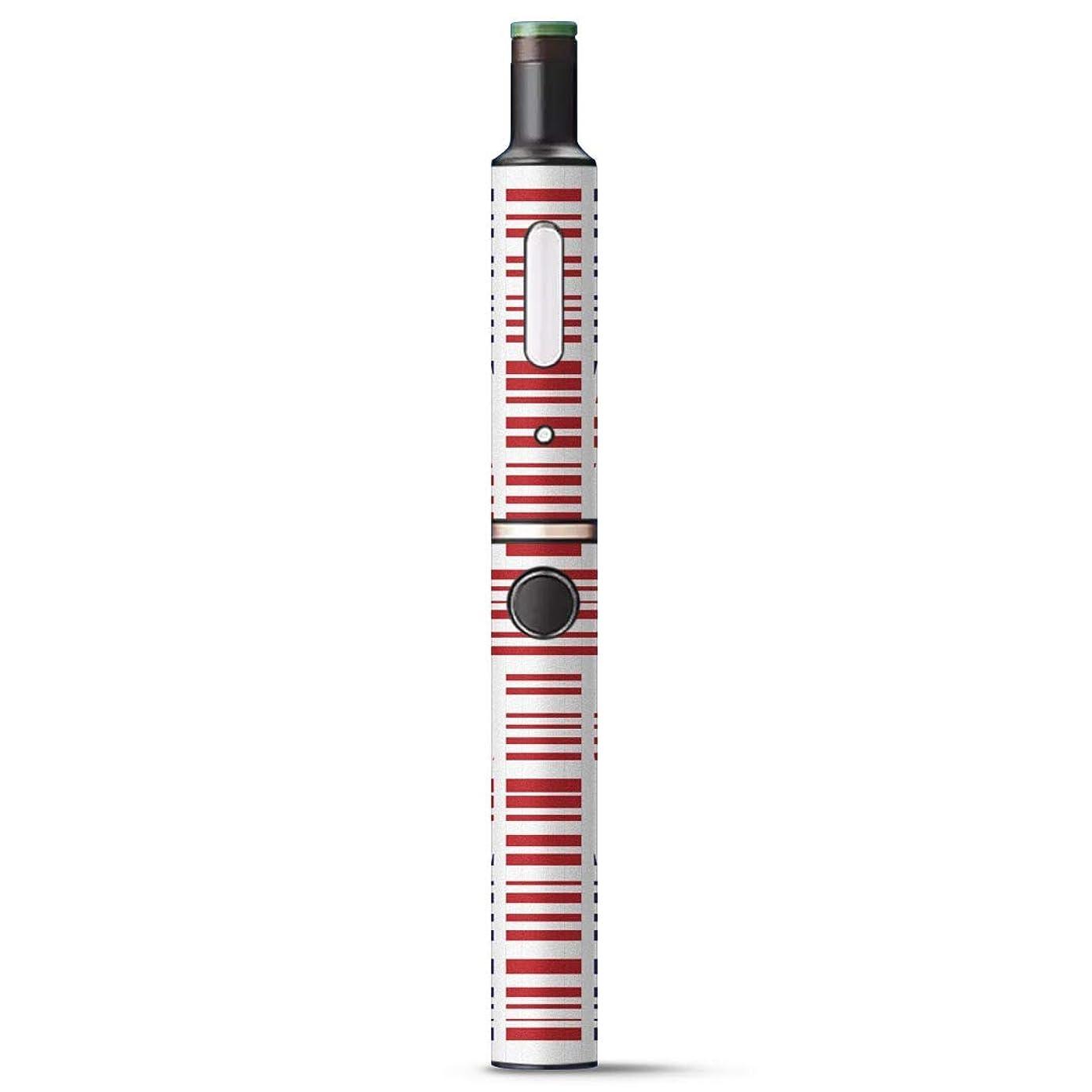 朝ごはんマスタードはげigsticker Ploom TECH + Plus プラス 専用 デザインスキンシール プルームテック カバー ケース 保護 フィルム ステッカー 009358 国旗 赤 青 外国