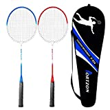 Portzon 2 Player Badminton Racquets Set ,Double Rackets, Lightweight & Sturdy Perfect