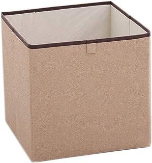 Panier de rangement Boîte de Rangement en Tissu, Domestique Pliable, Lavable, de Couleur Unie Liuyu. (Color : Brown)