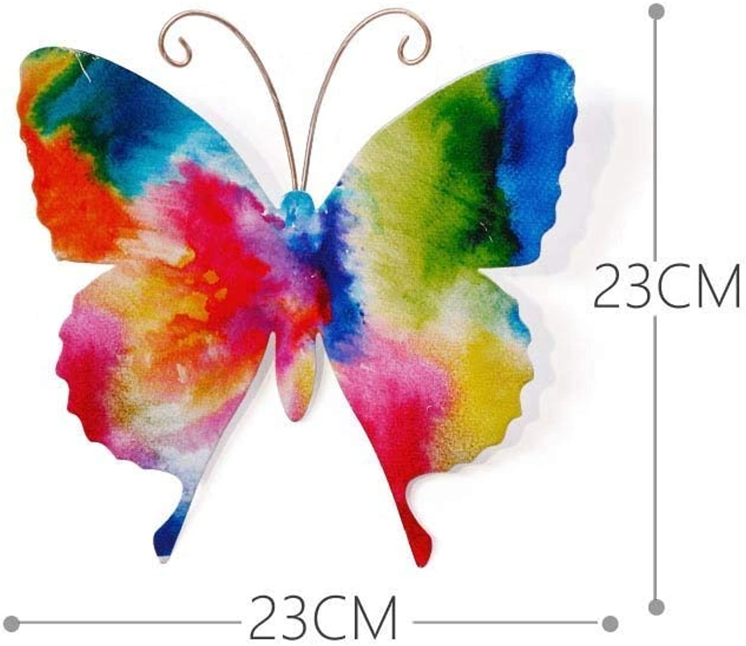 SED Creative Wall Hanging Ornament Three-Dimensional Single-Iron Butterfly Living Room Background Retro Art