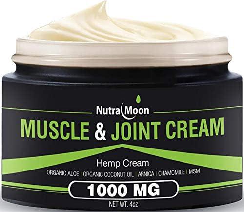 Hemp Pain Relief Cream Organic Hemp MSM Arnica Coconut Oil Relieve Muscle Joint Arthritis Pain product image