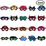 U&X Superheld Masken Super Masken Weihnachten Halloween Maske Superheld Cosplay Party Augenmasken 20...