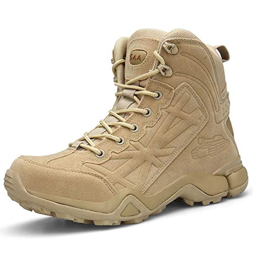 AZLLY Mens militaire laarzen speciale kracht tactische woestijn strijd enkel boten leger werkschoenen voor de winter herfst Plus maat 39-46