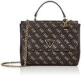 Guess Cordelia, Cordón con Logo Luxury para Mujer, Logotipo marrón, Talla única