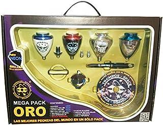 comprar comparacion Xtreme Mega Pack Oro Neon - Maletín peonzas, color oro neón (Space 008000041)