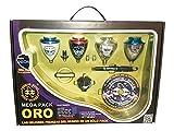 Xtreme Mega Pack Oro Neon - Maletín peonzas, color oro neón (Space 008000041)