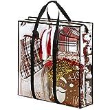 Seasonal/Christmas XLarge Accessory Storage Bag Clear, Slim Xmas Decoration Storage Bag for All Christmas Decorations - Seasonal Clothing, Blankets, Wreath, Garlands, Figurines, & Giftwrap Accessories