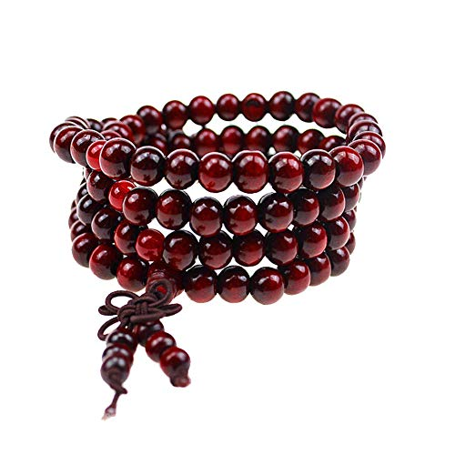 Athemeet 1 Unid Nature Wood 108 Beads Pulsera Mala Oración Collar De Oración Budista Ropa De Muñeca Ropa De...