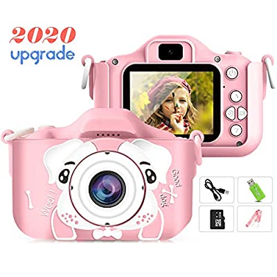 Sinceroduct Kids Camera?Petiparkit Digital Camera for Kids 2.0 Inches IPS Screen 20MP HD Kids Video Camera Children Toy Camera Recorder for Kids Gifts for 3-10 Year Old Boys Girls with 32GB SD Card