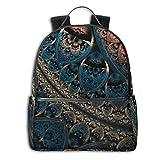 Abstract Artwork Digital Art Fractal Geometry Pattern Multi-Functional College Bags Students Casual Daypack Travel Backpack School Laptop Bookbags