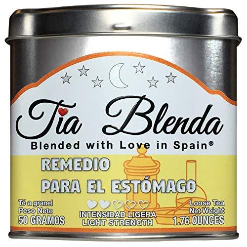 TIA BLENDA - REMEDIO PARA EL ESTÓMAGO (50 g) - Delicado Té verde Sencha de alta calidad con anís estrellado. Té en hojas. 40 - 50 tazas. Presentación premium en lata. Loose Tea Caddy