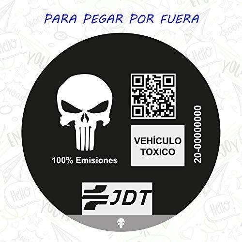 CUAC REVOLUTION Vinilo Adhesivo Sticker Pegatina Sticker Distintivo Ambiental Coche VEHICULO TOXICO JDT para Pegar por Fuera