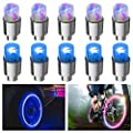 FICBOX 10PCS LED Car Wheel Lights Flash Tyre Wheel Valve Cap Light for Car Trucks Motorcycle Bike (Multicolor+Blue)