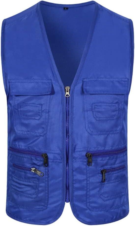 HYFDGV Fishing Vests for famous Men Ja Casual Vest unisex Multi-Pocket